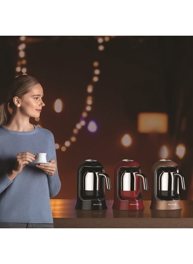 Korkmaz Kahvekolik Kırmızı Otomatik Kahve Makinesi Kırmızı